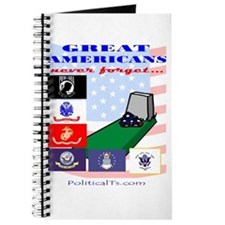 Great Americans Never forget Journal