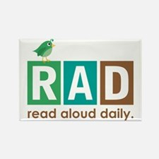 Bird Read Aloud Daily Books Rectangle Magnet