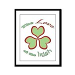 Love of the Irish Framed Panel Print