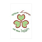 Love of the Irish Sticker (Rectangle 10 pk)