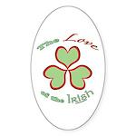Love of the Irish Sticker (Oval 50 pk)