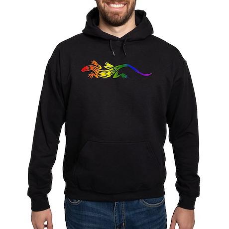 Rainbow Pride Lizard Hoodie (dark)