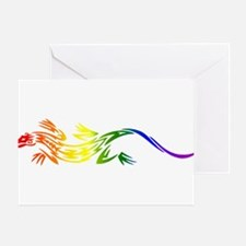 Rainbow Pride Lizard Greeting Card