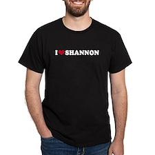 I LOVE SHANNON ~  Black T-Shirt