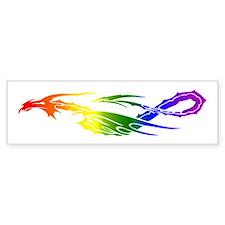 Rainbow Pride Dragon Bumper Sticker