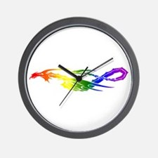 Rainbow Pride Dragon Wall Clock