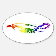 Rainbow Pride Dragon Decal