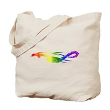 Rainbow Pride Dragon Tote Bag