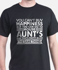 You Cant Buy Happiness But You Can Go Aunt T-Shirt
