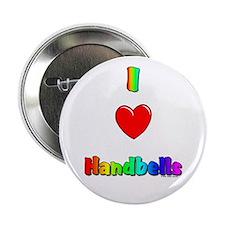 I love handbells Button