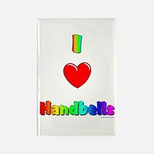 I love handbells Rectangle Magnet