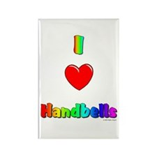 I love handbells Rectangle Magnet (10 pack)