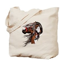 Paint Horse and Feathers Tote Bag