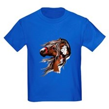 Paint Horse and Feathers T