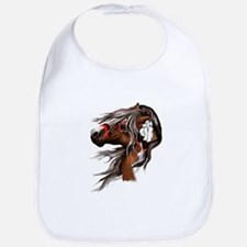 Paint Horse and Feathers Bib