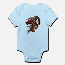 Paint Horse and Feathers Infant Bodysuit
