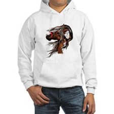 Paint Horse and Feathers Hoodie
