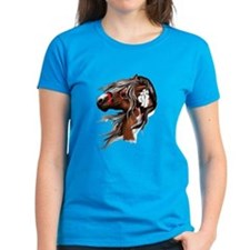 Paint Horse and Feathers Tee