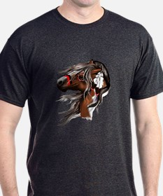 Paint Horse and Feathers T-Shirt