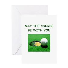 i love golf Greeting Card