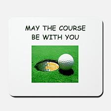i love golf Mousepad