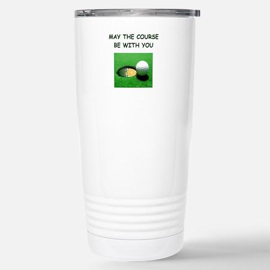 i love golf Stainless Steel Travel Mug