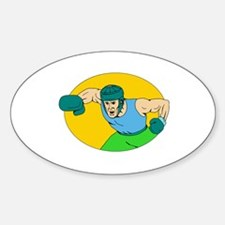 Amateur Boxer Knockout Punch Drawing Decal