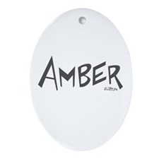 Amber Oval Ornament