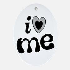I Love Me Oval Ornament