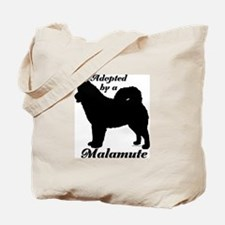 ADOPTED by a Malamute Tote Bag