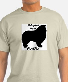 ADOPTED by a Collie T-Shirt