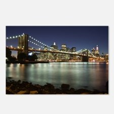 Unique New york at night Postcards (Package of 8)