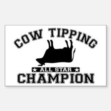 Cow Tipping All Star Champion Decal