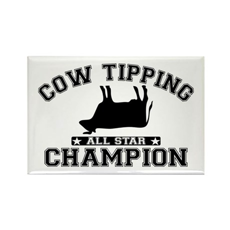 Cow Tipping All Star Champion Rectangle Magnet
