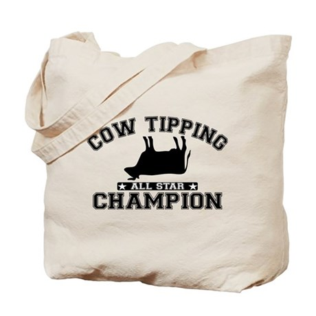 Cow Tipping All Star Champion Tote Bag
