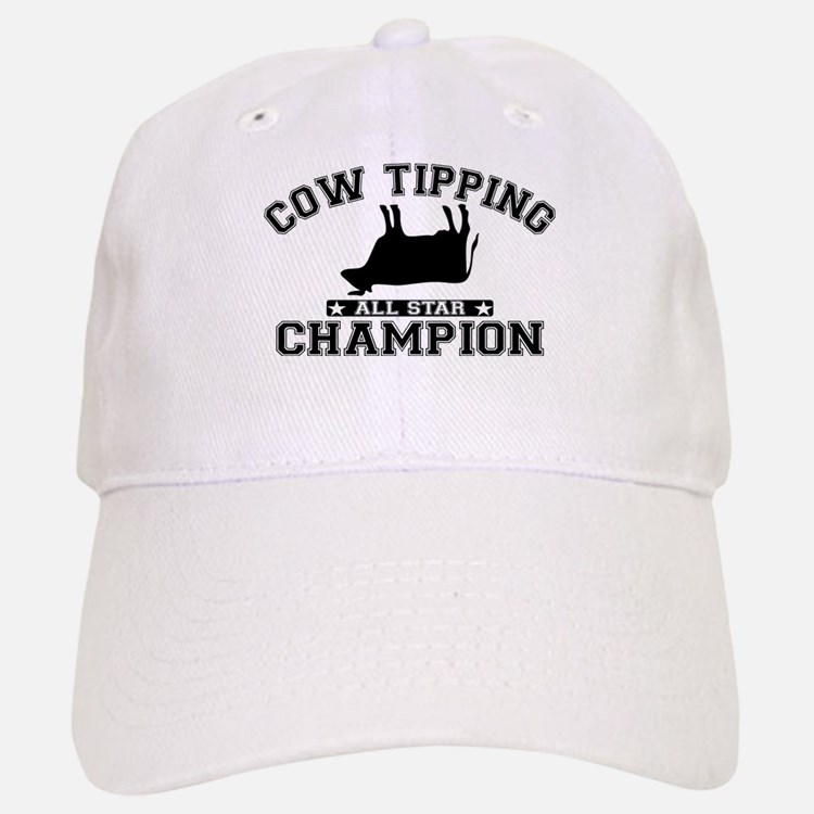 Cow Tipping All Star Champion Baseball Baseball Cap