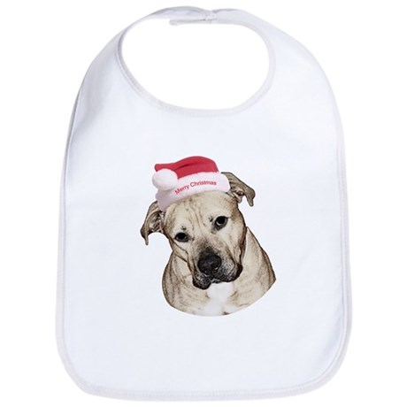 Christmas Old English Bulldog Pit Mix Bib