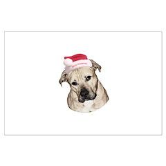 Christmas Old English Bulldog Pit Mix Posters