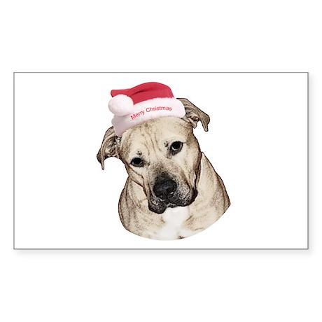 Christmas Old English Bulldog Pit Mix Sticker (Rec