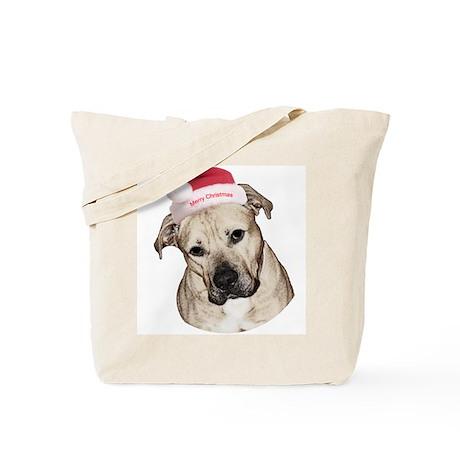 Christmas Old English Bulldog Pit Mix Tote Bag