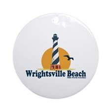 Wrightsville Beach NC - Lighthouse Design Ornament