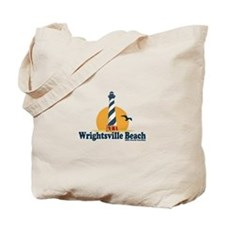 Wrightsville Beach NC - Lighthouse Design Tote Bag