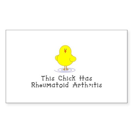 This Chick has RA Sticker (Rectangle)