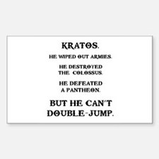 Kratos Can't Double-Jump Sticker (Rectangle)