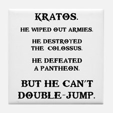 Kratos Can't Double-Jump Tile Coaster