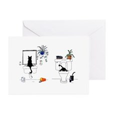 Two Cats In The Bath Greeting Cards (Pk of 20)