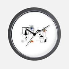 Two Cats In The Bath Wall Clock