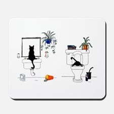 Two Cats In The Bath Mousepad