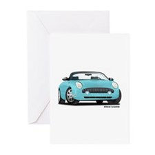 2002 03 04 05 T Bird Blue Greeting Cards (Pk of 10