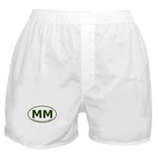 Mount Mitchell, NC Euro/Oval Boxer Shorts